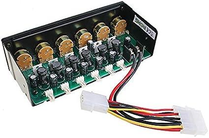 Lamptron Fan Controller-2 Fa/çade de contr/ôle pour ventilateurs Aluminium anodis/é 45 W Noir Import Royaume Uni
