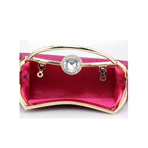 Pack Diamant Soirée RoseRed Chaîne Demoiselle Mariée Portable De D'honneur Dames D'habillement Solide Boucle Sac qwgX0xU