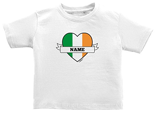 St Patricks Day Baby Clothes Personalized Irish Pride Add Name Custom Toddler T-Shirt 2T ()