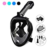 DasMeer Snorkel Mask Full Face Seaview 180°GoPro Compatible Mask Easy Breathing Easy Draining Design Anti-Fog Anti-Leak Technology Adults Kids Swimming, Snorkeling Sea
