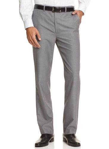 Calvin Klein Men's Slim Fit Flat Front Dress Pants 34W x 29L Grey