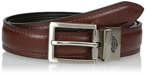 8 Kids Belts Accessories (Dickies Big Boys' Feather Edge Dress Reversible Belt, Brown/Black, Large)