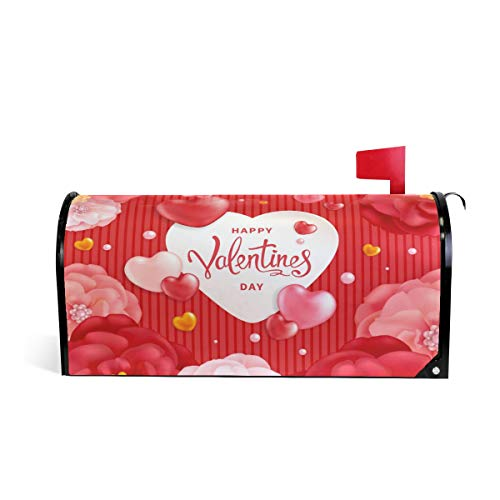 Valentine's Day Mailbox (ALAZA Valentines Day Magnetic Mailbox Cover Oversized-25.5