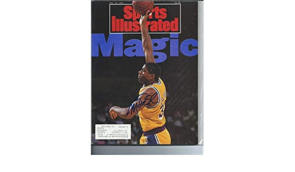 Autographed Signed Magic Johnson Los Angeles Lakers Sports Illustrated Magazine - Certified Authentic at Amazons Sports Collectibles Store