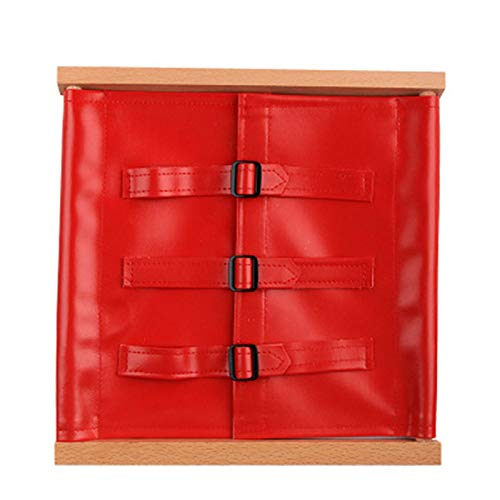 - PinShang Kids Wooden Montessori Toys Toddler Practical Life Buttons Dressing Frame for Education Learnning Supplies Tools Leather Buckle Dress (Red)