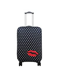 Explore Land Travel Luggage Cover Suitcase Protector Fits 18-32 Inch Luggage (Polkadot, XL(31-32 inch luggage))