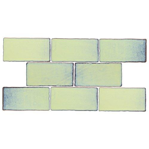 Green Glazed Porcelain - SomerTile WCVASA Antigue Special Agua Marina Ceramic Wall Tile, 3