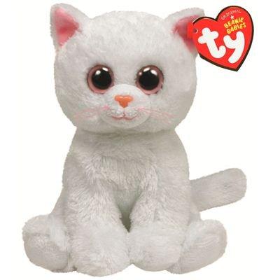 b9dde7457fa Amazon.com  Ty Beanie Baby Bianca Plush - White Cat  Toys   Games