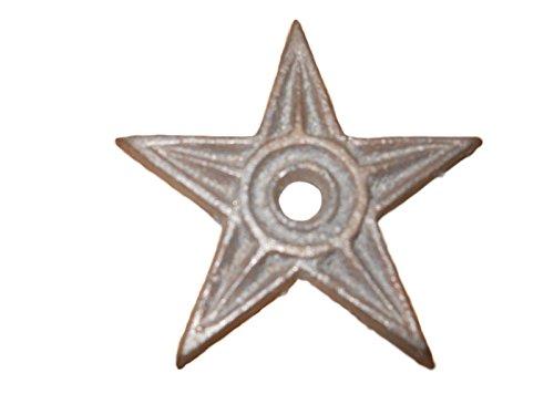 Set of 12 pcs Cast Iron Stars Architectural