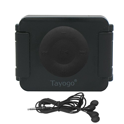 Tayogo iPod Shuffle Case, iPod Shuffle 4th Generation 100% Waterproof Case for swimming, Surfing, boating, running, etc.-Black