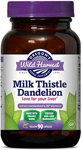 3 PACK: Organic Milk Thistle Dandelion 90 caps
