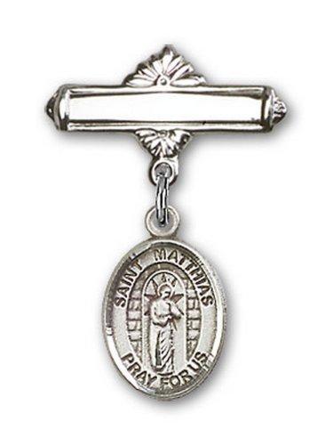 Icecarats Créatrice De Bijoux En Argent Sterling St. Matthias Broche Le Badge De Charme Apôtre 1 X 5/8