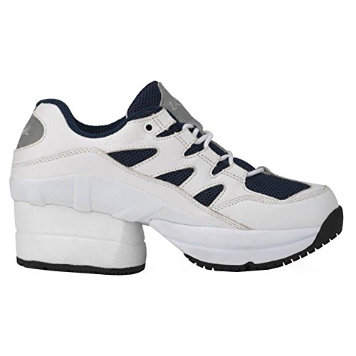 Z-CoiL Pain Relief Footwear Womens Freedom Slip Resistant Enclosed Coil Black Leather Tennis Shoe