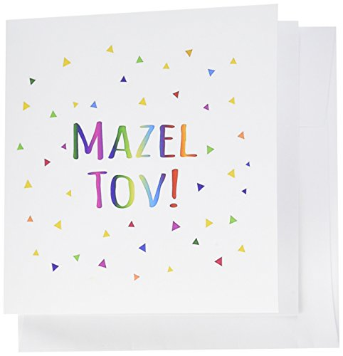 3dRose Mazel Tov - Congratulations or Happy Birthday Greeting Cards, 6