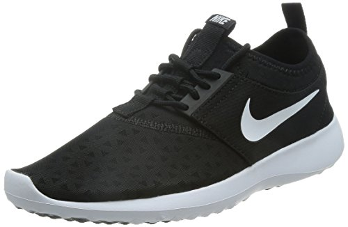 NIKE Women's Juvenate Sneaker, Black/White, 8 B US