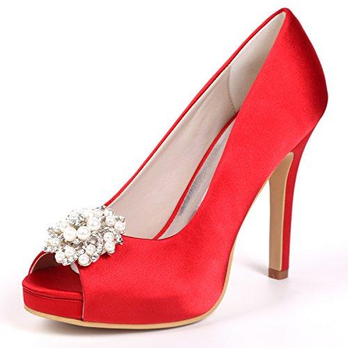 Ferse cm Peep Frauen Elobaby Sexy Party Kätzchen Mode 11 Pumpen Schuhe Hochzeit Heels Toe High Kleid wZYgxYR6q