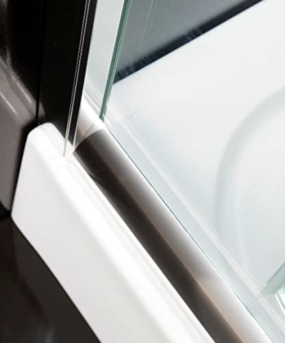 Mate Box ducha semicircular redondo cristal 6/mm Apertura deslizante 75/x 75/cm