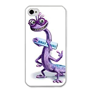 The best gift for Halloween and Christmas iPhone 4 4s Cell Phone Case White Freak badass Randall Boggs by disney villains VIK9181405