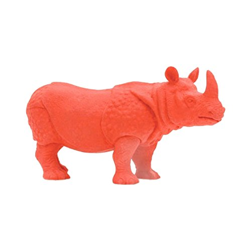 Kikkerland Endangered Species Rhino Eraser, Red (ER08)