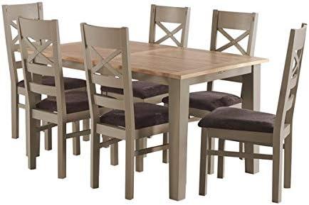 Oak Furniture Land Mesa de Comedor Extensible de Madera de Roble ...