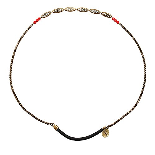 Headband chaine et perles corail, St Ambroise