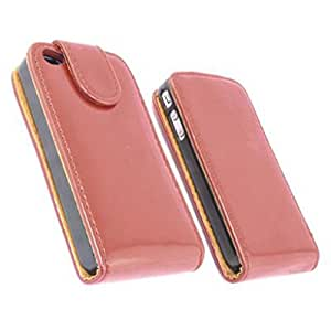 GLOSSY color rojo pintura Funda para Apple iPhone 4