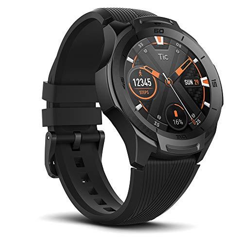Ticwatch S2 - Reloj Inteligente Resistente al Agua, con Sistema operativo Wear OS y Compatible con Android y iPhone, Color Negro