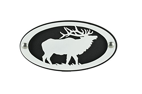 - BLUE LUCA Elk Hitch Cover Black/White | Powder Coated | 2 inch Hitch | Hitch for Trucks | Hitch Cover Plug | Gifts for Men | Gifts for Dad | Elk Art | Hitch Cover Hunting