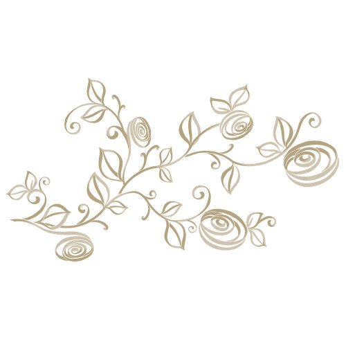 RoomMates RMK2434SCS Stylized Roses Peel and Stick Wall Decals, 1-Pack