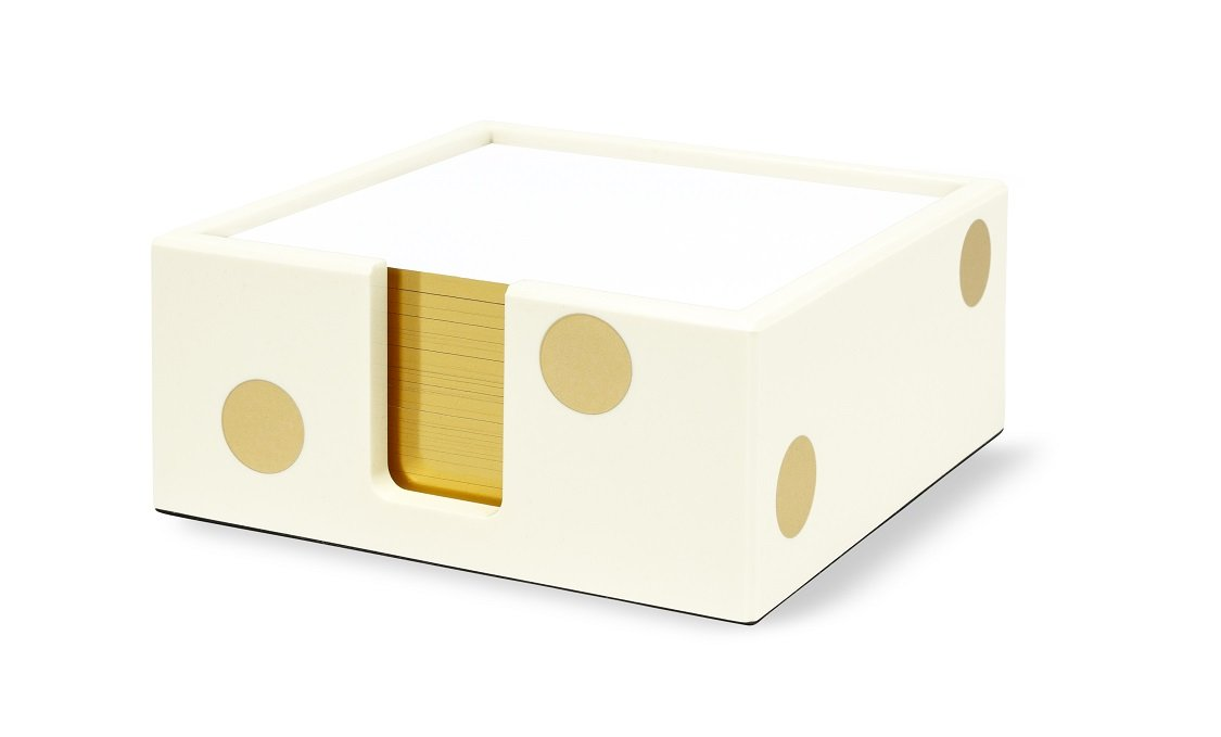 Kate Spade New York Acrylic Note Holder, Gold Dot