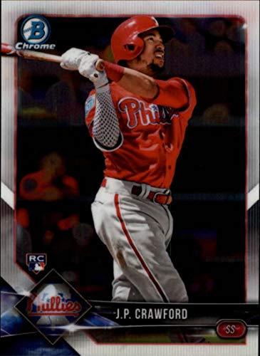 2018 Bowman Chrome #65 J.P. Crawford RC Rookie Philadelphia Phillies MLB Baseball Trading Card ()