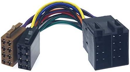 FEELDO Universal Female To Male Car Stereo Radio ISO Wiring Harness Adapter Lead