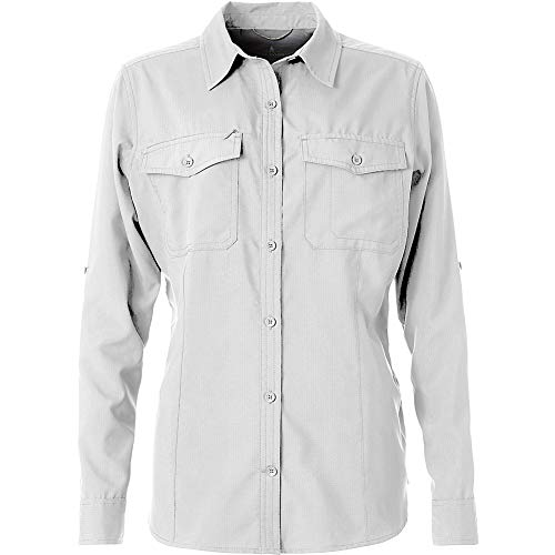 (Royal Robbins Women's Expedition Dry Long Sleeve Top, White, Small)