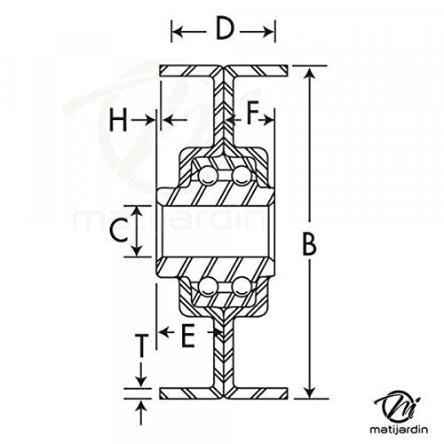Largeur 20,5 mm Poulie gorge en V avec roulement renforc/ée /Ø 102 mm Pi/èce neuve