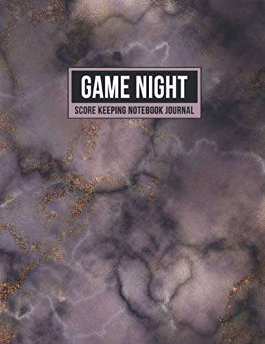 Game Night Score Keeping Notebook Journal: Simple Gaming Log For Many Family Games | Blank Score Sheets Allow You To Determine Players, Rounds, Layout and Tracking (Pink Purple Marble)