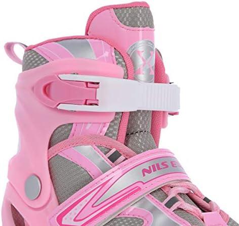 NILS 2in1 Inlineskates//Schlittschuhe Glider rosa ABEC7 Gr 31-34 35-38 39-42 verstellbar