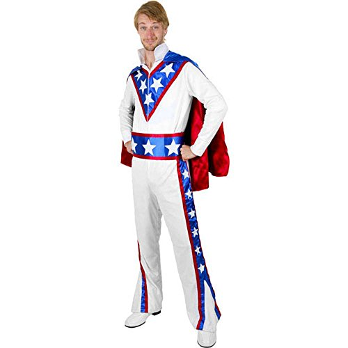 Evel Knievel Adult Costumes (Adult Daredevil Costume, Size Large)
