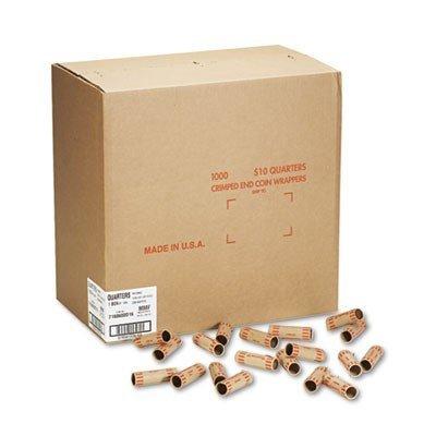 MMF Preformed Tubular Cartridge Wrapper - Heavy Duty - Kraft - Orange, 1000 per Box (MMF2160600D16)