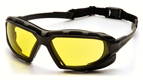 Pyramex Safety Highlander XP Eyewear, Black-Gray Frame/Amber Anti-Fog Lens