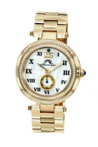 Porsamo Bleu Luxury South Sea Crystal Stainless Steel Champagne Women's Watch 104BSSC