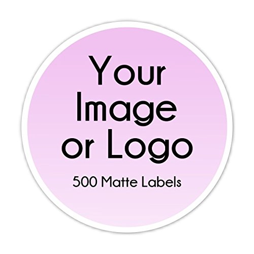 500 Custom Logo Stickers, Round Logo Labels, Business Labels - available in two size options by Delight Design