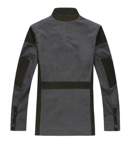 Wantdo Plus Men Cotton Stitching Cotton Jacket Coat 704
