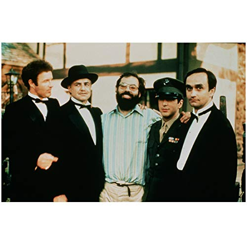 The Godfather Group Cast Shot with Director Francis Ford Coppola 8 x 10 Inch Photo