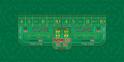 Craps Layout - 8 Foot Professional Size Casino Quality by Casino Supply Co.