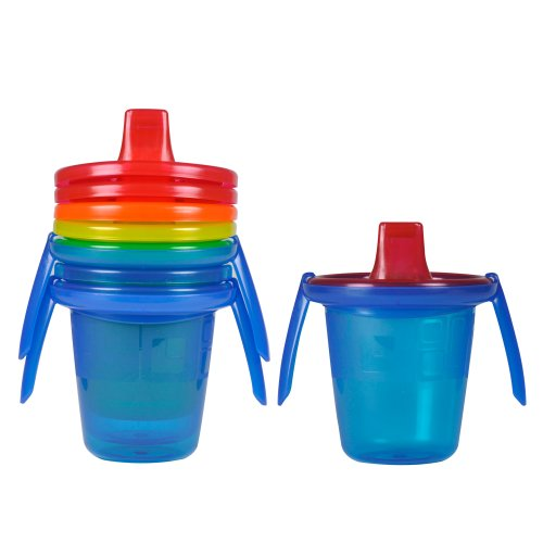 The First Years Take & Toss Spill-Proof Sippy Cups with Removable Handles, 7 Ounce (Pack of 4)