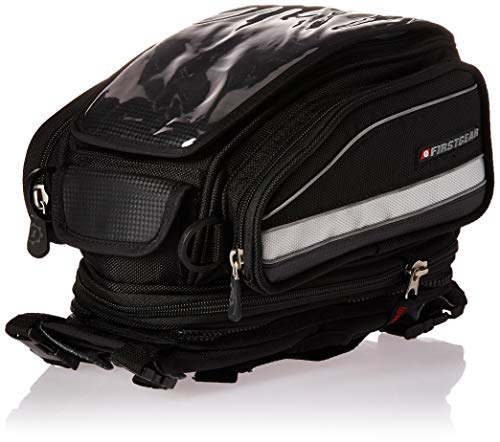 Dowco Fastrax 50144-00 Backroads Series Black Water Resistant Reflective Motorcycle Tail Bag 28 Liter Capacity
