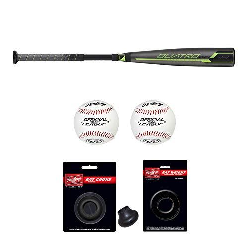 Rawlings 2019 Quatro Pro USA Youth Baseball Bat (31