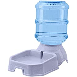 Sport Store Automatic Pet Water Feeder, Cat and Dog General-Purpose, PP Plastic Material, Silver Dapple