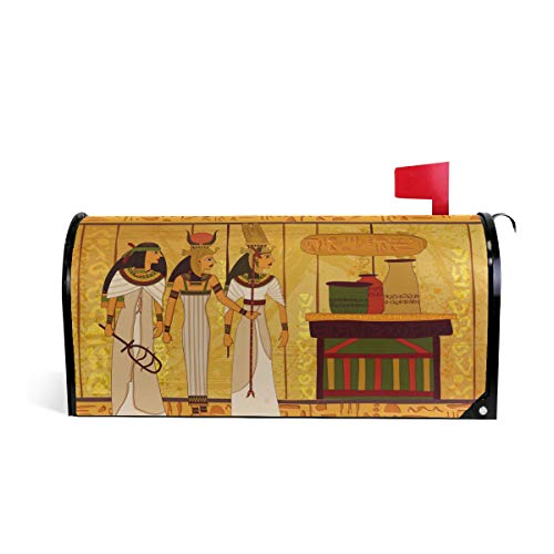 Printedin3D Egyptian Decor Magnetic Mailbox Cover for US Large Size