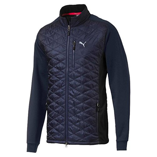 PUMA Golf Men's 2017 Pwrwarm Extreme Jacket, Peacoat, X-Large (Puma Soccer Jacket)